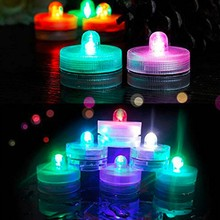 multicolour waterproof candle water submersible led tea lights
