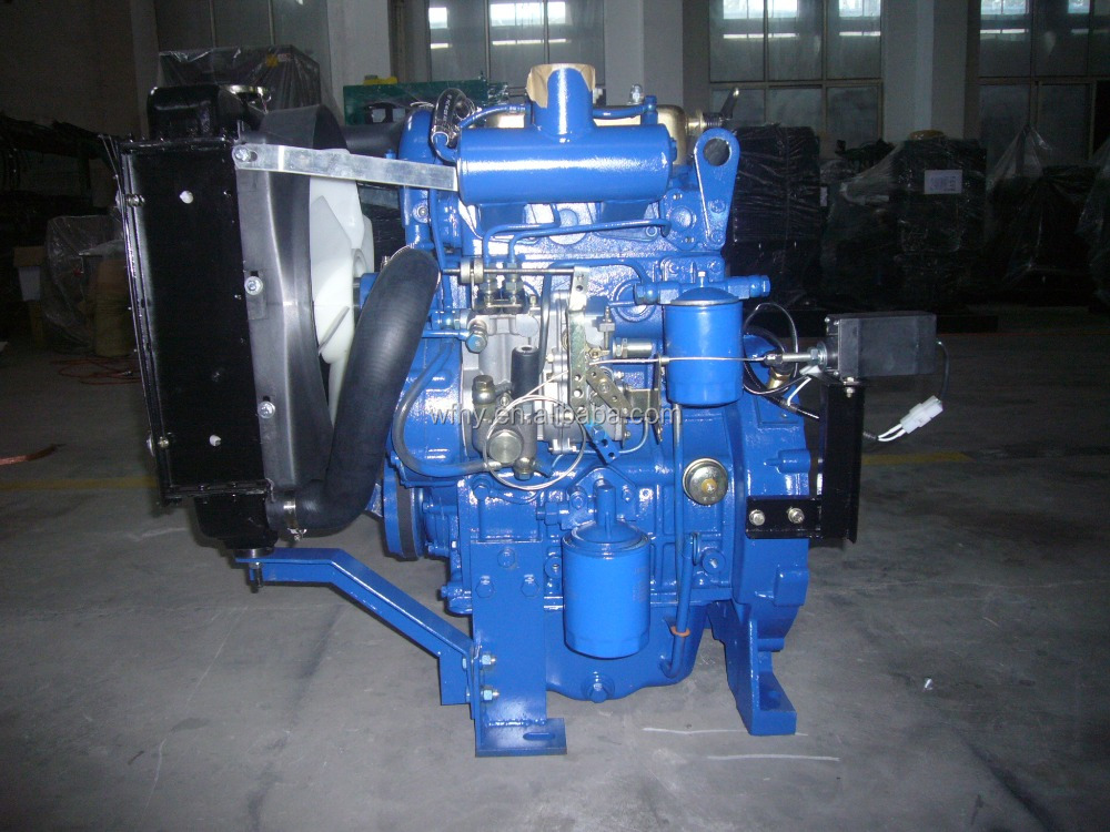 HF2110D twin cyliner diesel engine at 1800RPM with output shaft