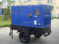 Mobile power unit 25 kva diesel generator with sound proof and movable tank
