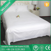 Luxury Hotel Supplies 100% Cotton 300TC Sateen Fabric Wholesale Hotel Used Bed Sheets
