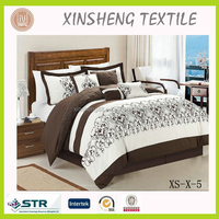 High quality home textile Bedding set Embroidery COTTON /Microfiber 8PC COMFORTER
