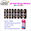 Made in China Wholesale Nail Stick 16pcs Flower Design Nail Wraps with Good Stickiness Can Last Two Weeks