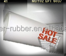good resilience smooth thin silicone rubber matting roll
