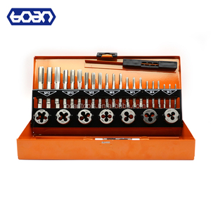 32pcs DIN metric tap and die set in hand tool box