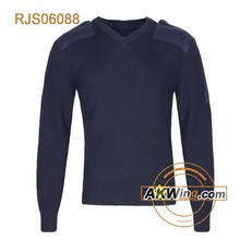 Navy Blue Knitted Sweater High-end Military Pullover Army Sweater for Army Issue
