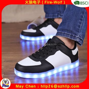 New arrival low top urban city lighting new app shoes remote shoes