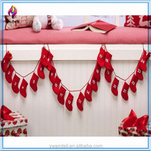 Hanging Fabric Christmas Advent Calendar With 24 Stockings
