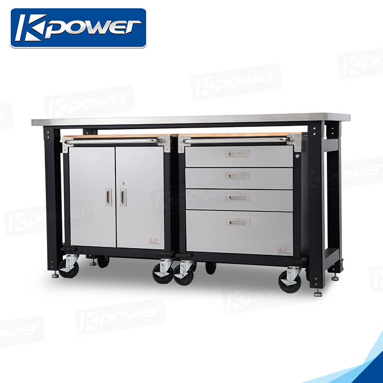 Stainless Steel Laboratory Work Bench With Bench Vice