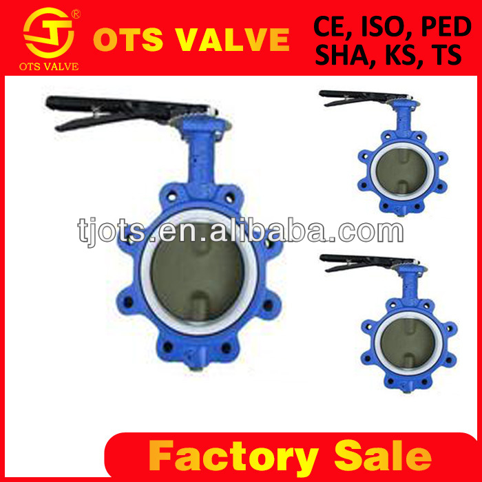 DIN2501 PN10/16 aluminium gear operated or hand lever butterfly valves