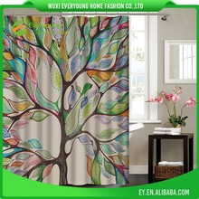 Shower Curtain of Leaves Designs