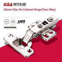 [B23] 35mm Cup Clip-on 110 Degree Cabinet Hinge Two Way Door Hinge