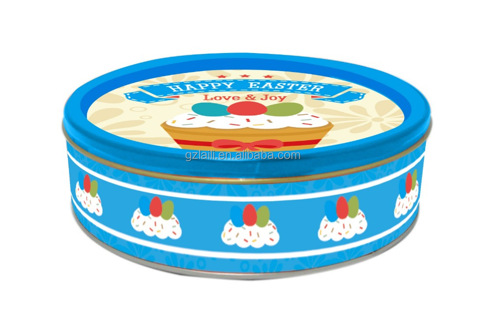 New design 113.4g Easter Festival Butter Cookies in Tin