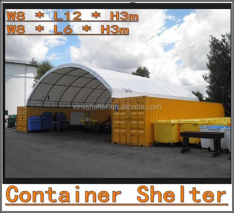 40ft Container Home Round Top Building Tent,mobile container shelter with end panel