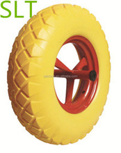 16 inch hand trolley wheels solid wheels pu foam wheels 4.00-8