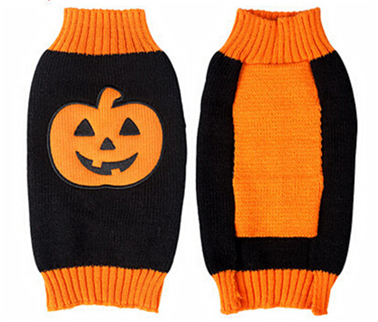 Factory Wholesale Export Dog Apparels Pumpkin Acrylic Fibers Sweater Wag A Tude Dog Clothes