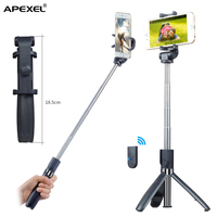 Amazon Hot Sale Multi-functional Portable Mini Selfie Stick/ Tripod with bluetooth remote shutter for iPhone, smartphone & iPad
