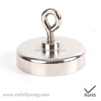 Strong 40lb Pot Magnet with Eyebolt /Powerful Heavy Duty Neodymium Magnet