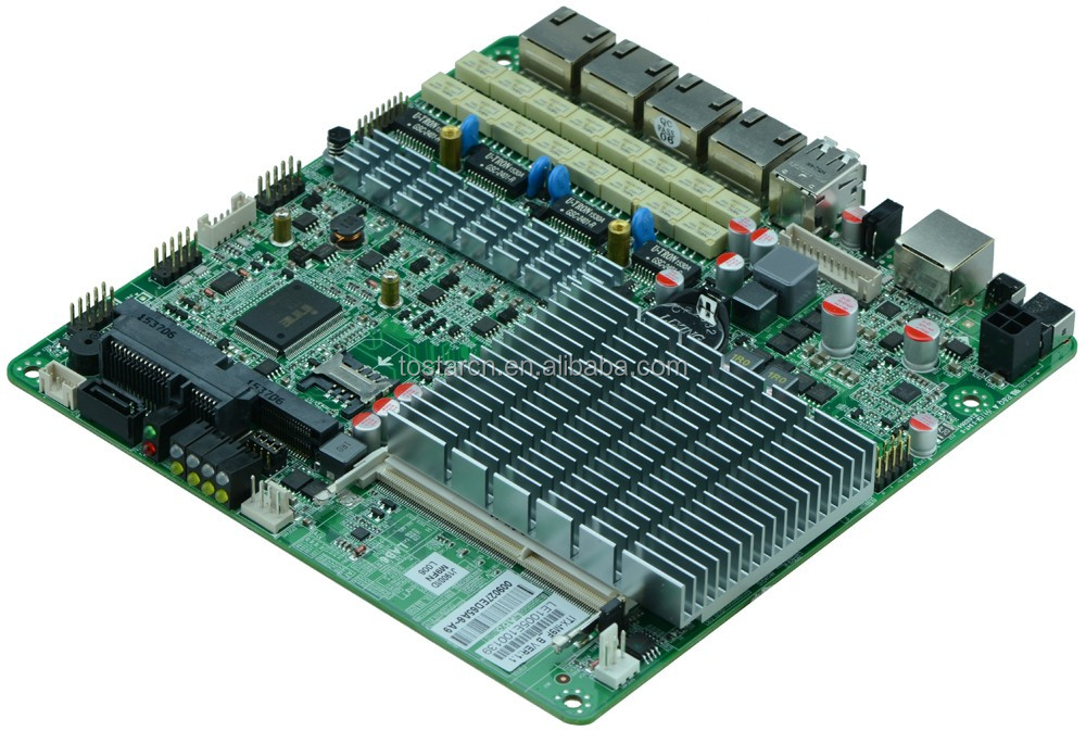 MiNi Motherboard 4 ethernet firewall motherboard Support MSata and MPCI_E
