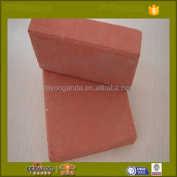 red fire clay brick used for pavers