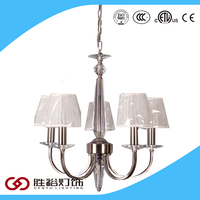 Cenyu cloth cover wrought iron chandelier with CE ETL Certificate