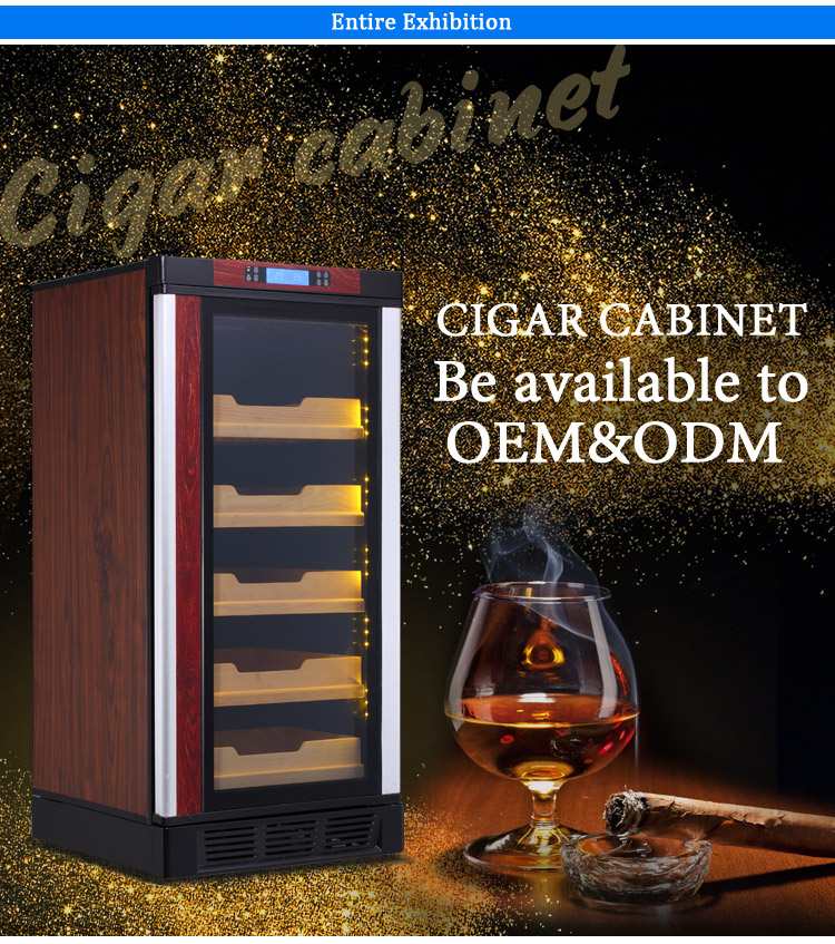 LVNI 750pcs made in china compressor cooling modern wooden box refrigerated cabinet cigar humidifier cooler refrigerator humidor