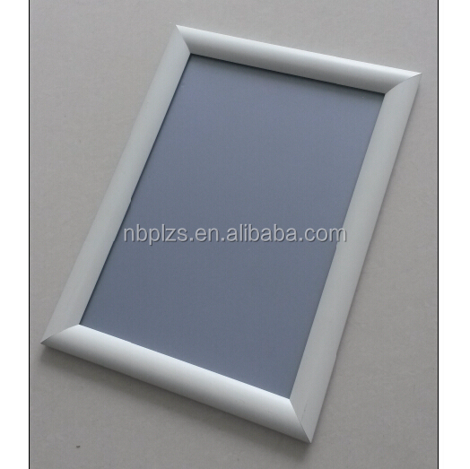 2017 high quality aluminum snap <strong>frame</strong> boards 25mm clip poster <strong>frame</strong> wall mounted white snap <strong>frame</strong> a4