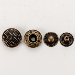 Manufacturer engraved antique copper magnetic snap button for clothing
