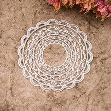 Circle Metal Cutting Dies Flower Lace Mtal Craft Dies for Card Making