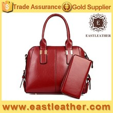 E1077 2015 NEW HANDBAG china factory fashion sets lady bags with wallet