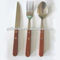 Wooden handle stainless steel cutlery set /flatware set