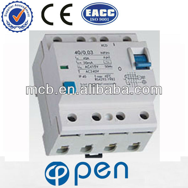 high quality NFIN -2 (RCCB) 1 pole rcbo Residual Current Circuit Breaker
