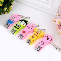 Cartoon animal key chain nail clipper/plastic nail clipper #311
