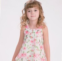 latest flower printed girl dress designs in sleeveless