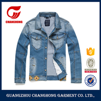 OEM supply men's embroidered jeans denim coat fashion classic jeans jackets men