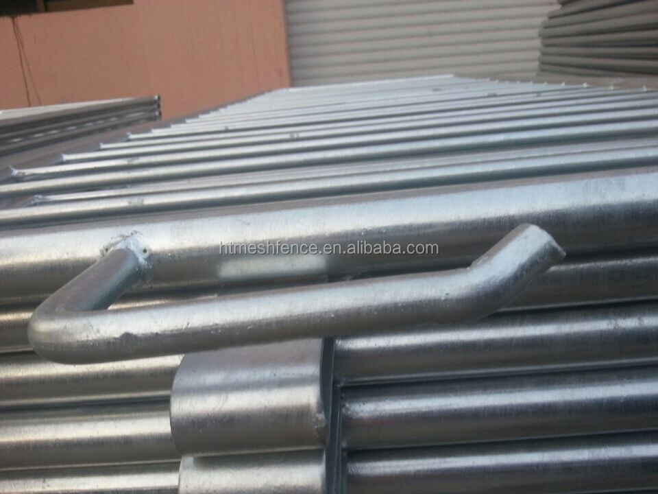 2.5mx1.1meter steel barrera / 1.1m removable traffic barrier/Pedestrian Barrcade hire Anping factory