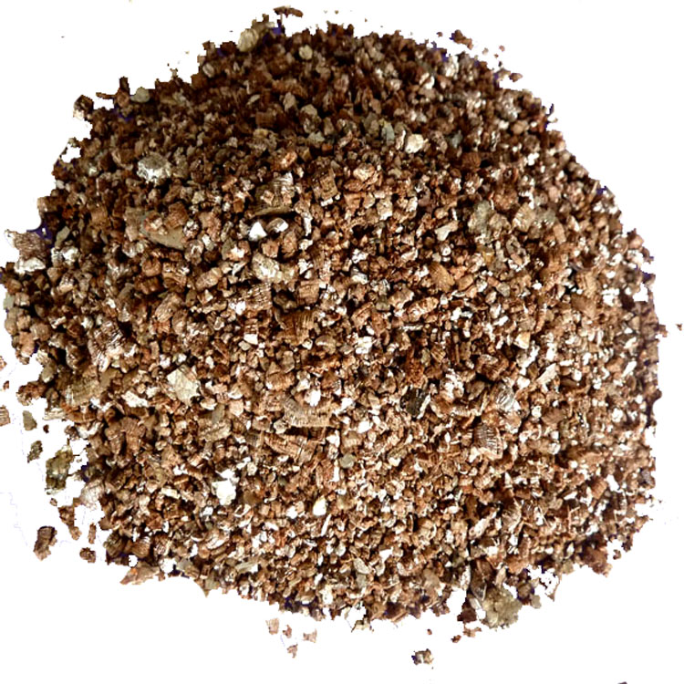 Golden Expanded Vermiculite For Hydroponic Systems And Greenhouses