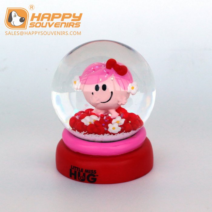 custom cute lovely baby gift resin snow globe