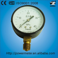 2.5'' 60mm bottom black steel case screw type chinese pressure gauge