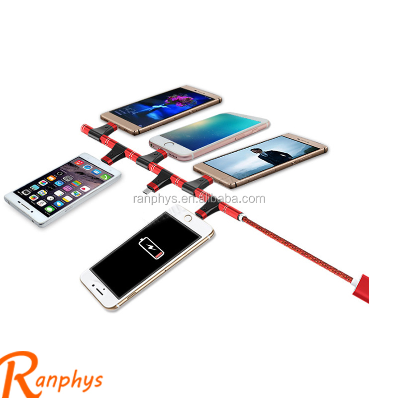 Ranphys multifunctional adapter usb cable data sync charger cable for micro V8 and mobile iphone
