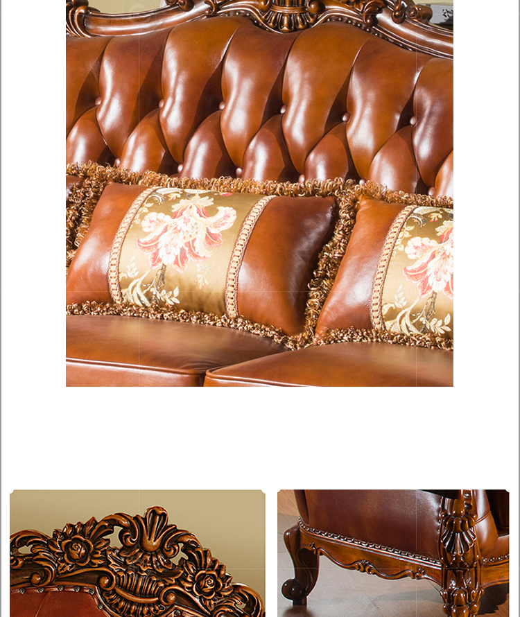 High Demand Antique American Style Sofa for Living Room Furniture