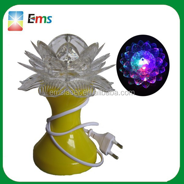 Novelty new product full color lotus flower led light rotating led crystal magic ball light christmas decoration light