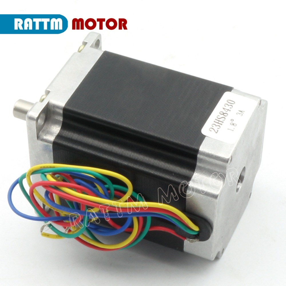 2 Phase Nema23 CNC Stepper Motor 76mm 3A 270oz-in CNC Router Stepping Motor 3D Printer Robot Foam Plastic Metal