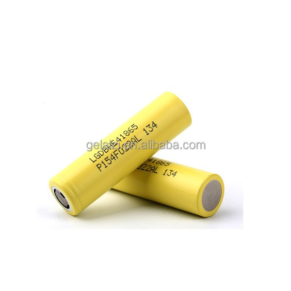 18650 HE4 2500Mah 35A Yellow Lithium-ion Rechargeable Battery