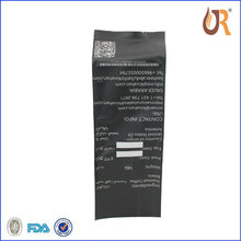 Black 1kg coffee bean matt print opp plastic bag with valve