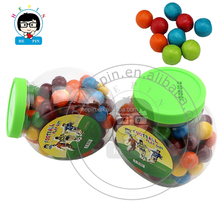 Multi-color Football Ball Shape Fruit Flavor Bubble Ball in Jar Round Bubble Gum