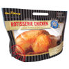 flat bottom Clear (printable) stand up pouch plastic bags for rotisserie chicken