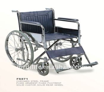 potty stainless Steel Wheelchair