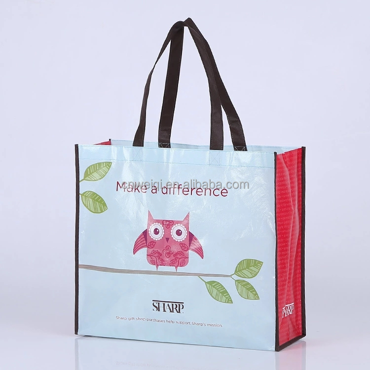 Reusable custom pp non woven grocery shopping bag