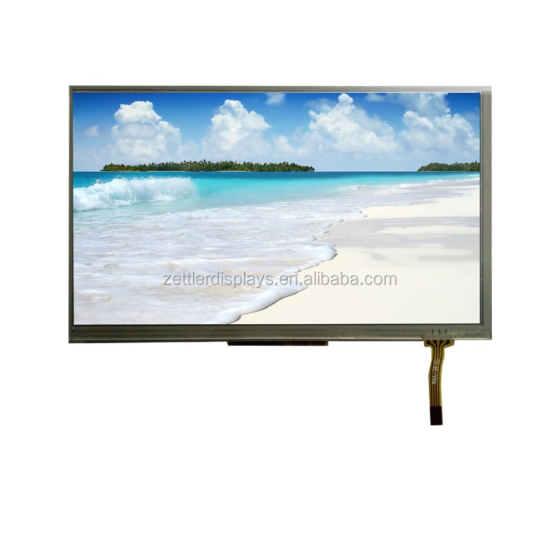 7 inch tft lcd monitor with resistive touch panel and 800x480 resolution