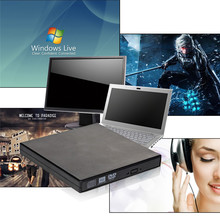 New Hot Sale External Black CD RW,DVD RW,DVDRW,Slim 8x DL USB DVD Writer External DVD Burner Drive All PC High Quality